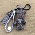 10 COLORS! Luxury Cute Bling Full Rhinestones Gloomy Bear Keychain Car Key Chain Ring Pendant For Bag Charm Hotsale Gifts