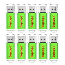 J-boxing 10PCS USB Flash Drive 1GB 2GB Rectangle Pen Drives 4GB 8GB Enough Memory Stick 16GB 32GB Flash Stick for Desktop Laptop 10pcs lot pmc pm25lv010 4 mbit uniform sector serial flash memory