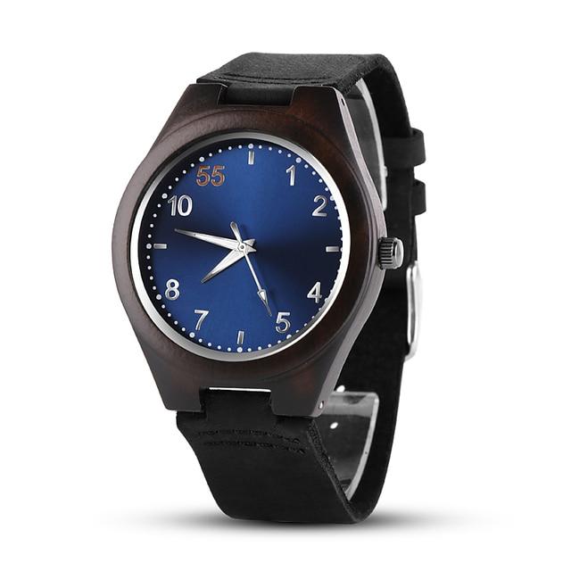 b9350361029 2018 De Madeira Relógios Top Marca de Luxo Homens Relógio Relógio De  Madeira Azul Madeira moda
