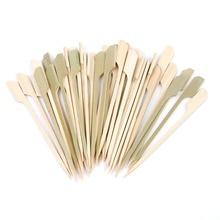 40 шт. 10 см бамбуковые шампуры весло палочки для барбекю гриль кебаб барбекю фрукты зубочистки вечерние принадлежности Инструменты для улицы