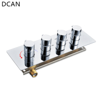 DCAN 3 Ways Of Better Quality Shower Faucet Shower Valve Rack Wall Mounted Control Valve Switch For Conceal Bathroom Accessories