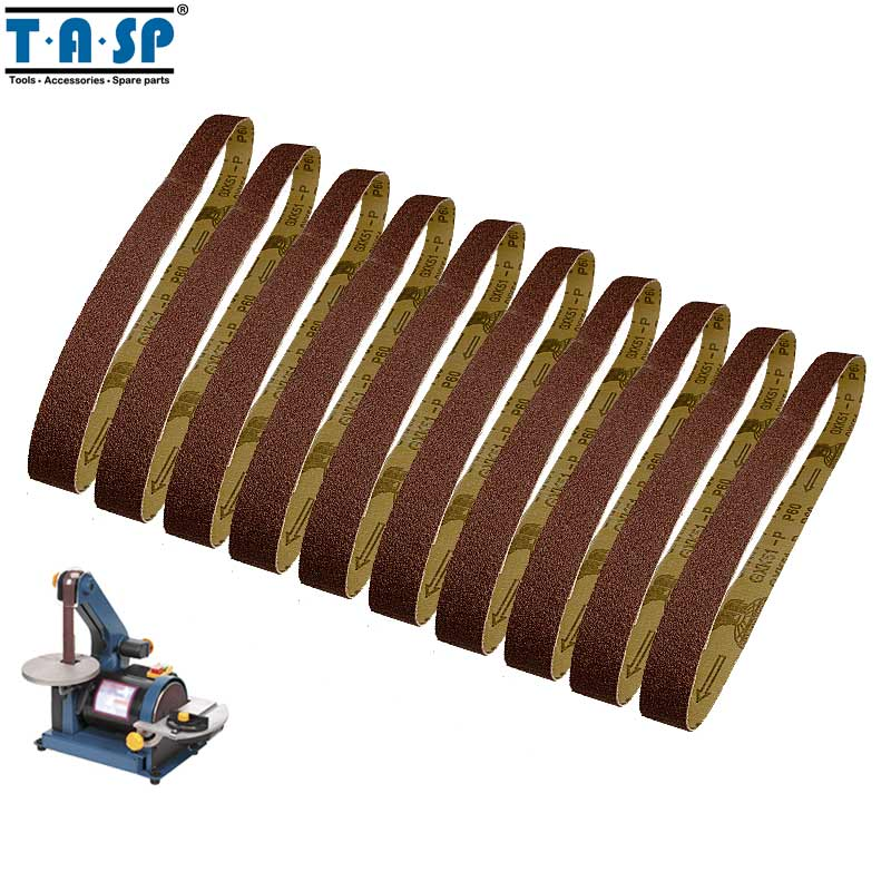 Tasp 10pcs 25x762mm Abrasive Sanding Belt 1x30 Belt Sander Sandpaper Woodworking Tools Accessories High Quality Tools