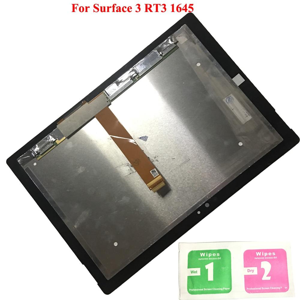 Assemblée de panneau de numériseur d'écran tactile d'affichage à cristaux liquides pour Microsoft Surface Pro 1645 RT3 10.8 pouces