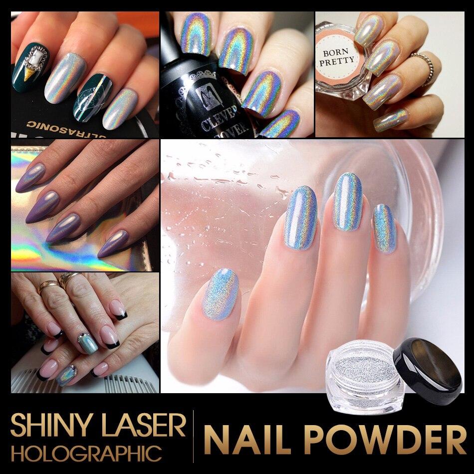 1 gr/schachtel nägel dip pulver Shiny Laser Regenbogen Nägel Glitter ...
