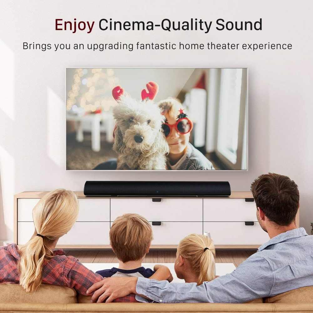 80 واط تلفزيون ساوند بار سمّاعات بلوتوث نظام مسرح منزلي ثلاثية الأبعاد محيطي> 80 ديسيبل ساوند بار مضخم صوت الصوت التحكم عن بعد جدار قابل للتركيب