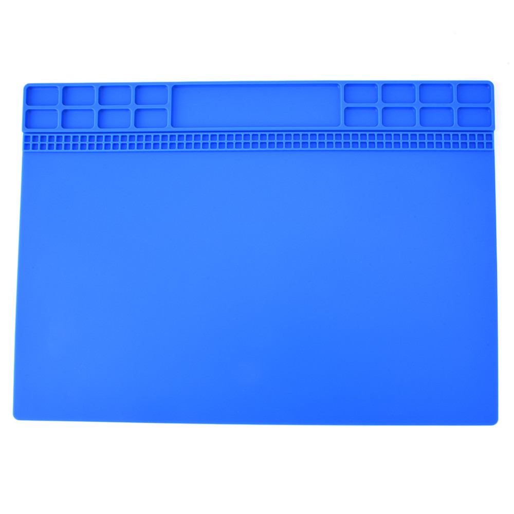 1pc Heat Resistant Insulation Silicone Mat Pad Multifunction Soldering Repair Tools Maintenance Platform Desk 35cm x 25cm