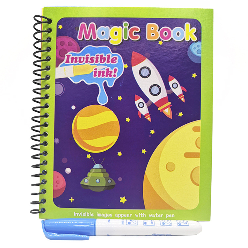 Creative Montessori Coloring Book Magic Pen Painting Drawing Board For Kids Toys Magic Water Drawing Book Birthday Gift