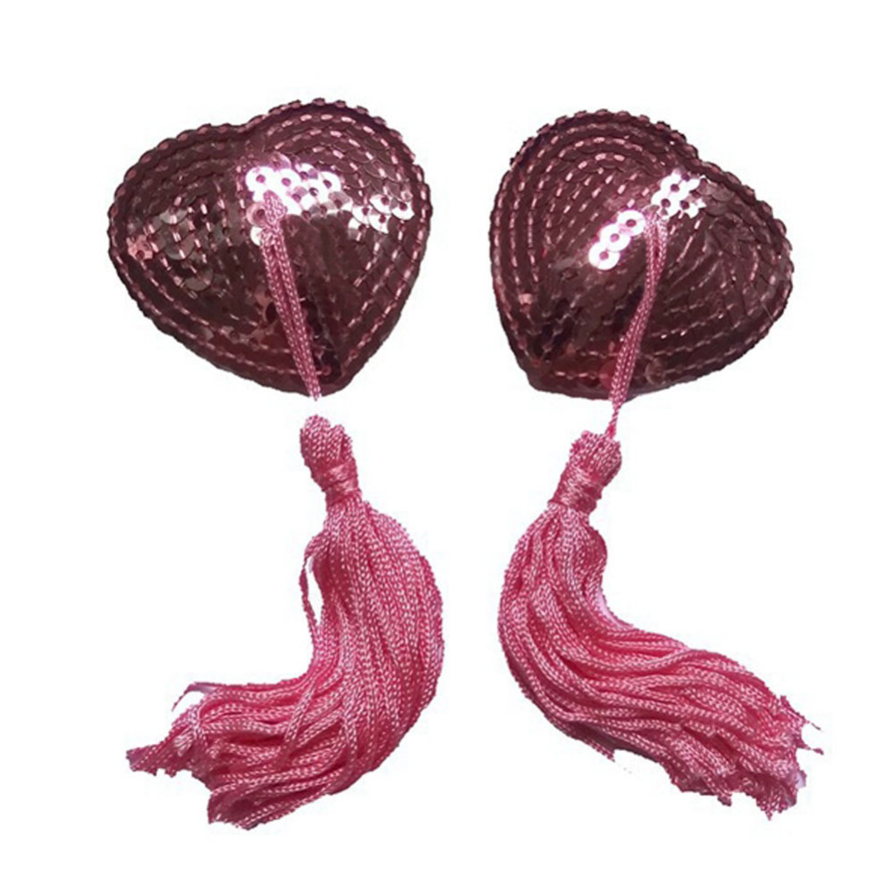 New Style Women Sexy Lingerie Sequin Tassel Breast Bra Nipple Cover Pasties Stickers Free Shipping FB