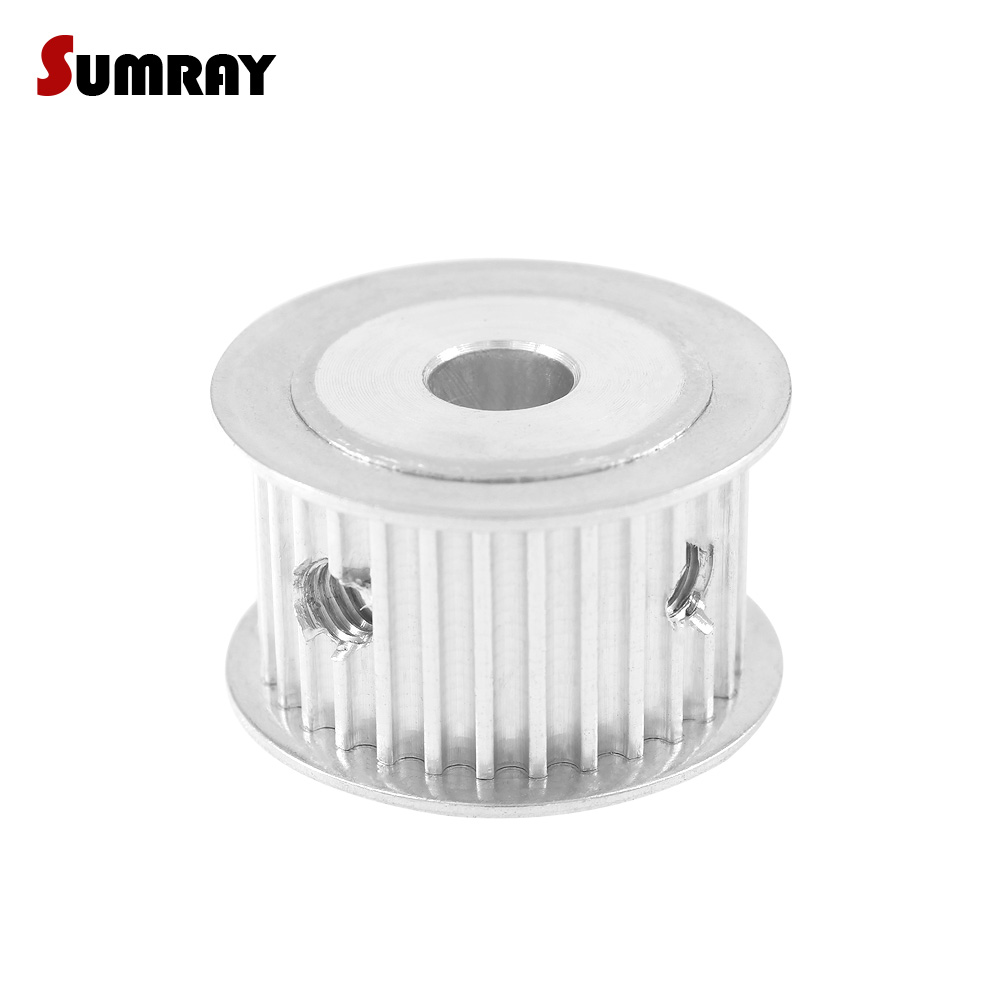 SUMRAY 3M 32T Timing Belt Pulley 5/6/8/10/12mm mm Bore Synchronous Wheel Pulley 16mm Belt Width For HTD 3M Timing Belts все цены