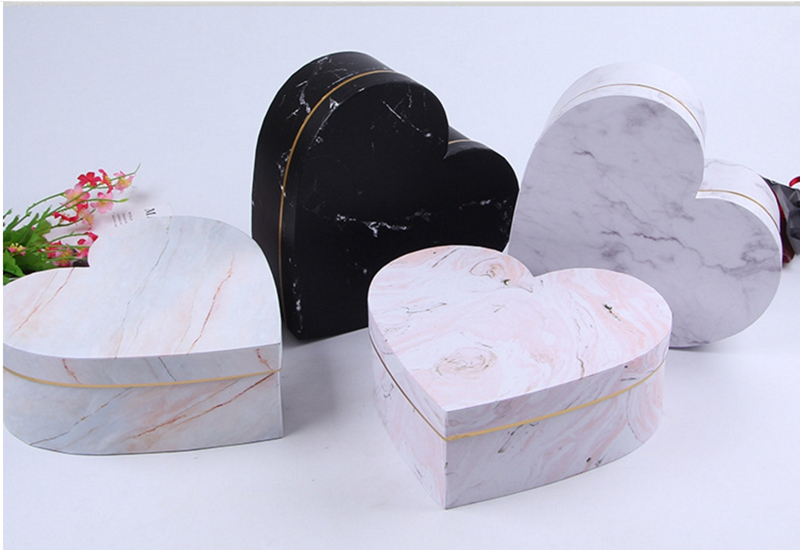 wedding : 54pcs wholesale heart-shaped round flower packaging gift box gold foil wedding decoration preferred gift flower box