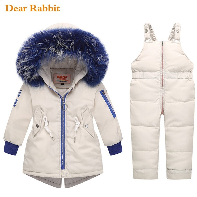 2019 комплект детской одежды для русской зимы детская одежда для мальчиков и девочек куртка пуховик теплый зимний комбинезон с капюшоном для новорожденных