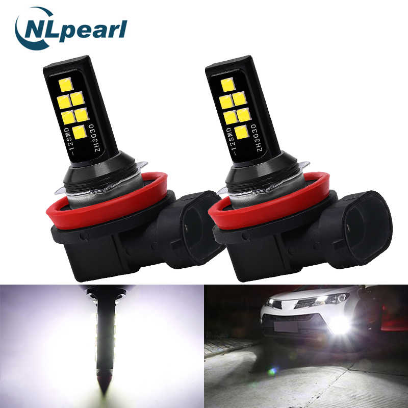 NLpearl 2x Car Fog Lamp H1 H3 Led 9005 HB3 9006 HB4 H8 H11 Led Lamp 3000K H9 Led H7 H4 6000K 8000K 2000LM Driving Running Light