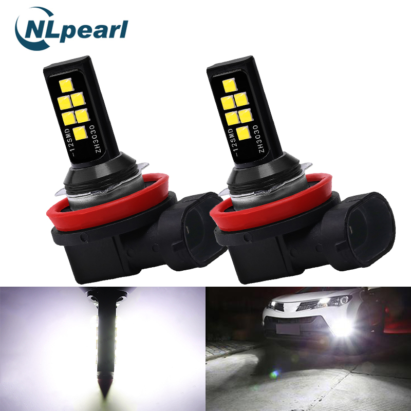 NLpearl 2x Car Fog Lamp H1 H3 Led 9005 HB3 9006 HB4 H8 H11 Led Lamp 3000K H9 Led <font><b>H7</b></font> H4 6000K 8000K <font><b>2000LM</b></font> Driving Running Light image