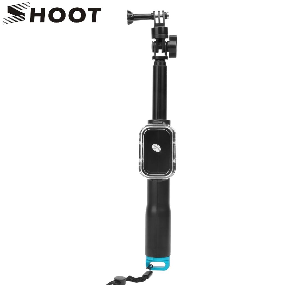 SHOOT 39 Inch Selfie Stick Extendable Aluminum Monopod For Gopro Hero 6 5 4 3 Session