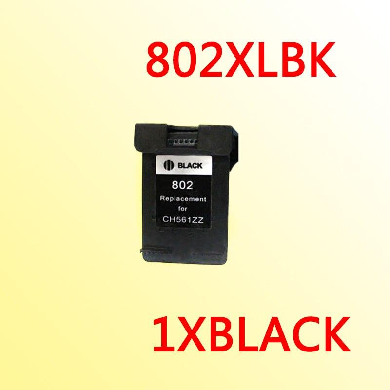 1xfor hp802 black ink cartridge for hp 802 1000 1050 2000 2050