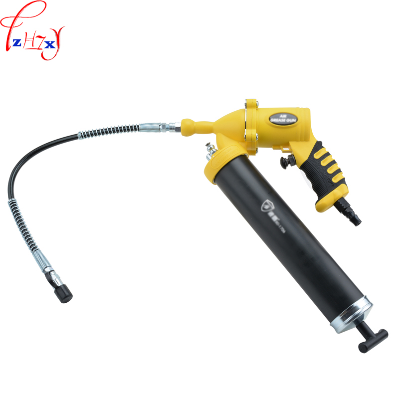 1pc Pneumatic grease gun BD-1706 hand-held pneumatic butter gun Pneumatic butter grease oiling gun handle type tube terminal special pressure line machine pneumatic cable pliers pneumatic hand held press 1pc