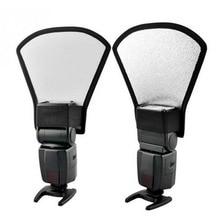 2 в 1 Универсальный DSLR камера Вспышка Speedlite рассеиватель Серебряный/белый отражатель доска софтбокс мягкий светильник для Canon Nikon Pentax