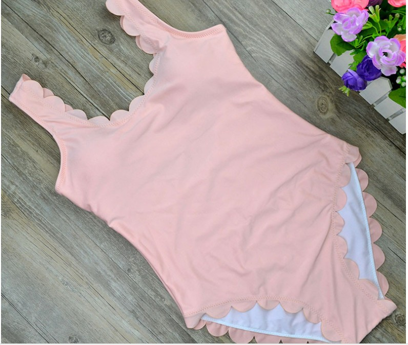 2017 One Piece Swimsuit Floral Border Swimsuits Ruffle Swimwear Swimming Suit For Girl Off The Shoulder floral embroidered off the shoulder tunic blouse