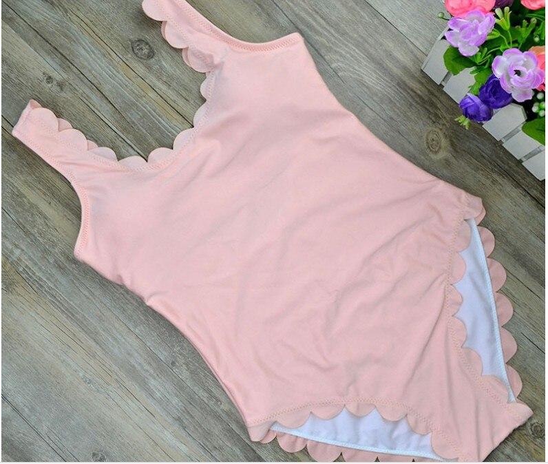 2017 traje de baño frontera Floral trajes de baño Ruffle traje de baño para niña del hombro