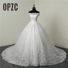 30% скидка класса люкс с кружевом и вышивкой Свадебные платья 100 см длинное платье со шлейфом, милое Элегантное свадебное платье больших размеров платье невесты Robe De Mariage