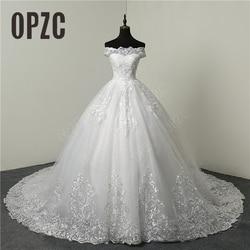 Свадебное платье с длинным шлейфом и вышивкой, элегантное платье невесты размера плюс, скидка 30%, 2020