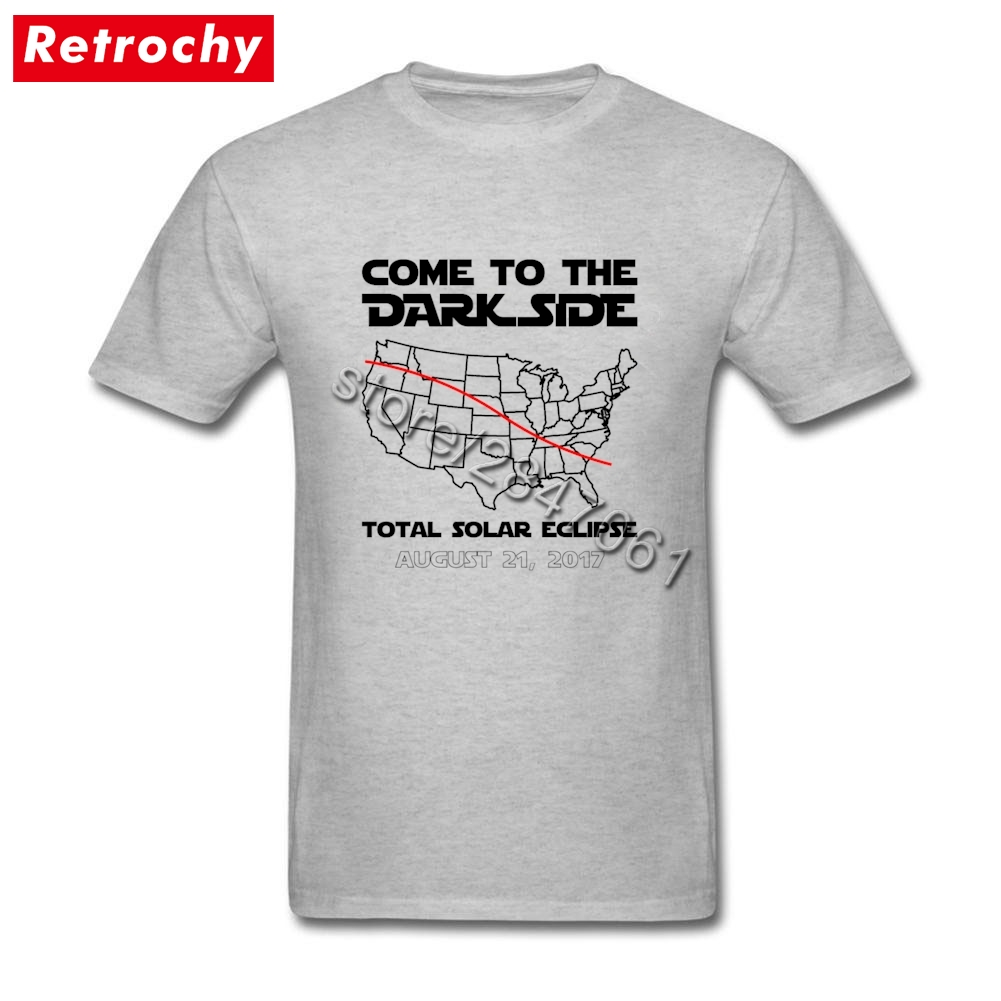 Come To The Dark Side Total Solar Eclipse Tees Shirts Homme Paris Brand Short Sleeve Teenagers TShirt Plus Size Clothing