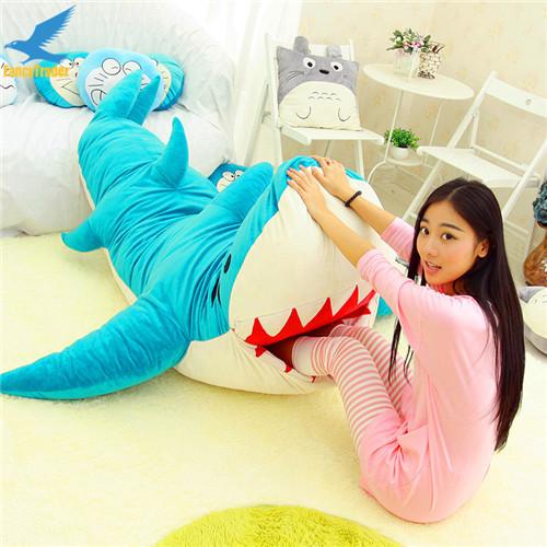 Fancytrader Huge Giant Shark Sleeping Bag Beanbag Sofa Bed Carpet Tatami Plush Stuffed 2 Colors FT90358 (5)