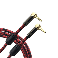 90 Degree Angle Mini Jack 3 5mm To 3 5mm AUX Audio Cable Car Phone Headphone