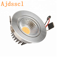 LED spot  LED COB Downlight Silver Ultra gorgeous Dimmable 6W/9W/12W/15W 85-265V Recessed LED Spot Light Decoration Ceiling Lamp [dbf]silver housing led cob downlight dimmable ac110v 220v 6w 9w 12w 15w 18w recessed led spot light decoration ceiling lamp