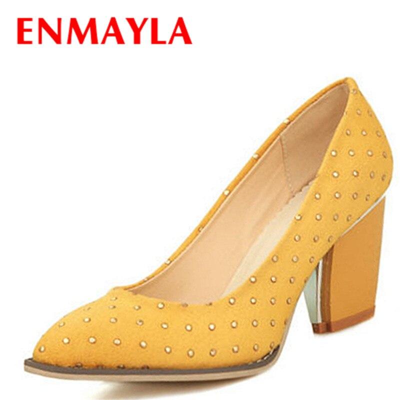 0e32863ab ENMAYLA Mulheres de Design Sapatos Moda Apontou Toe Plataforma Menos Sapatos  de Casamento OL sapatos de Salto Alto Mulheres Bombas