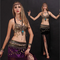 2015 Cheap New Women Tribal Belly Dance Costume Set Egyptian Dance Wear On Sale NMMC011