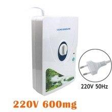 Небольшой размер светодиодный дисплей очиститель воздуха портативный генератор озона Многофункциональный очиститель воздуха для овощей фруктов