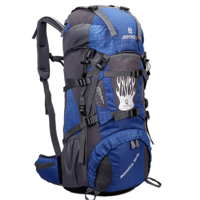 fb14dca02541 55L Large Backpack Outdoor Mountaineering Bag Men And Women Travel Large  Bag 60L Waterproof Nylon Climbing Bag A4393-in Climbing Bags from Sports &  ...