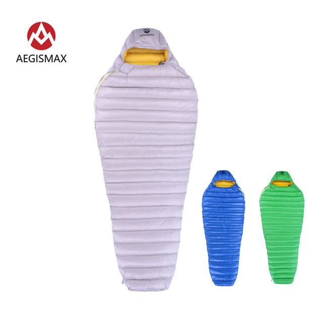 AEGISMAX Outdoor Camp Ultra Dry White Goose Down Sleeping Bag 700FP Mummy Type Sleeping Gear Water Repellent Down 1