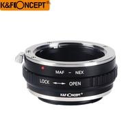 K & F CONCEITO MINOLTA (AF) NEX Montagem de Lente Anel Adaptador para Minolta (AF) MAF Lens para Sony NEX e Mount Lente Da Câmera adapter ring sony e lens mount adapter -