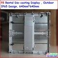 P8 Rental Die casting led display, alloy rental display, 64cm * 64cm,ip65 water proof,wide view angle,die casting aluminum