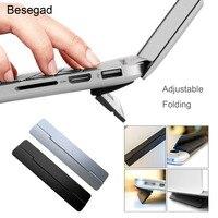Besegad suporte dobrável para computador  apoio de elevação para apple macbook mac book pro samsung  laptop e notebook