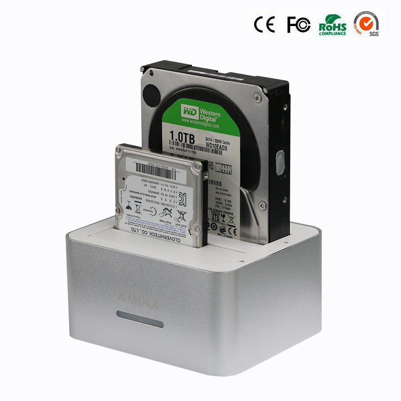 2.5/3.5 inch HDD SSD Disk hdd external case Original hdd case usb 3.0 aluminium box usb hdd adapter with EU Power Plug