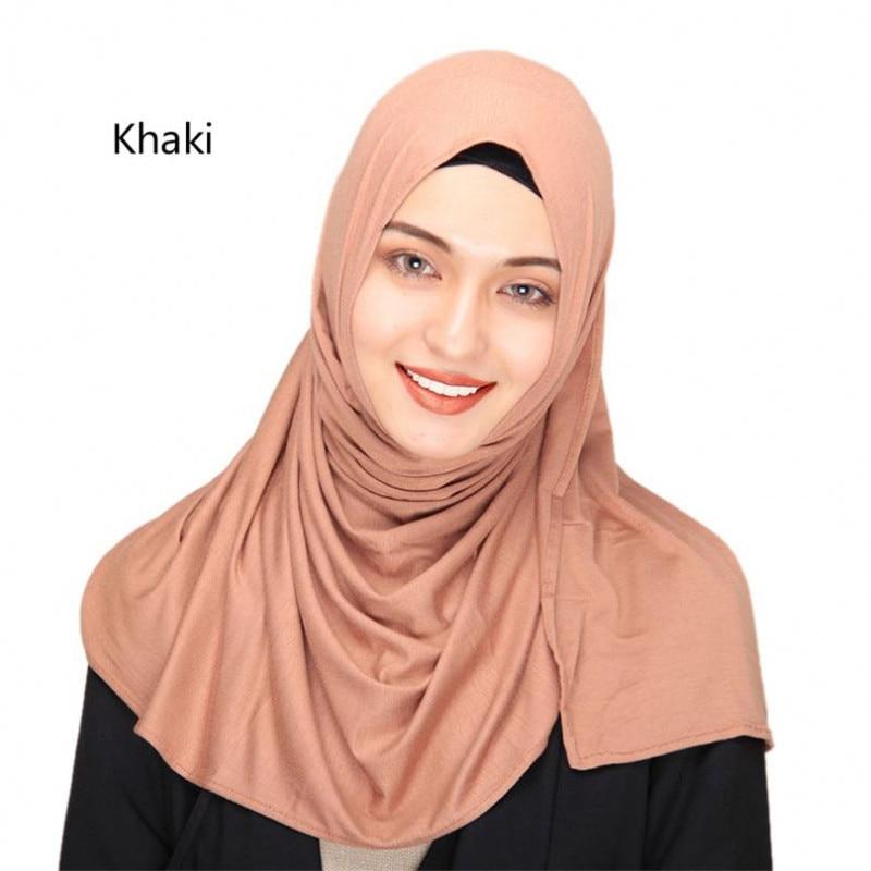 2019 women plain bubble cotton jersey   scarf   Head hijab   wrap   solid color shawls foulard femme muslim hijabs store ready to wear