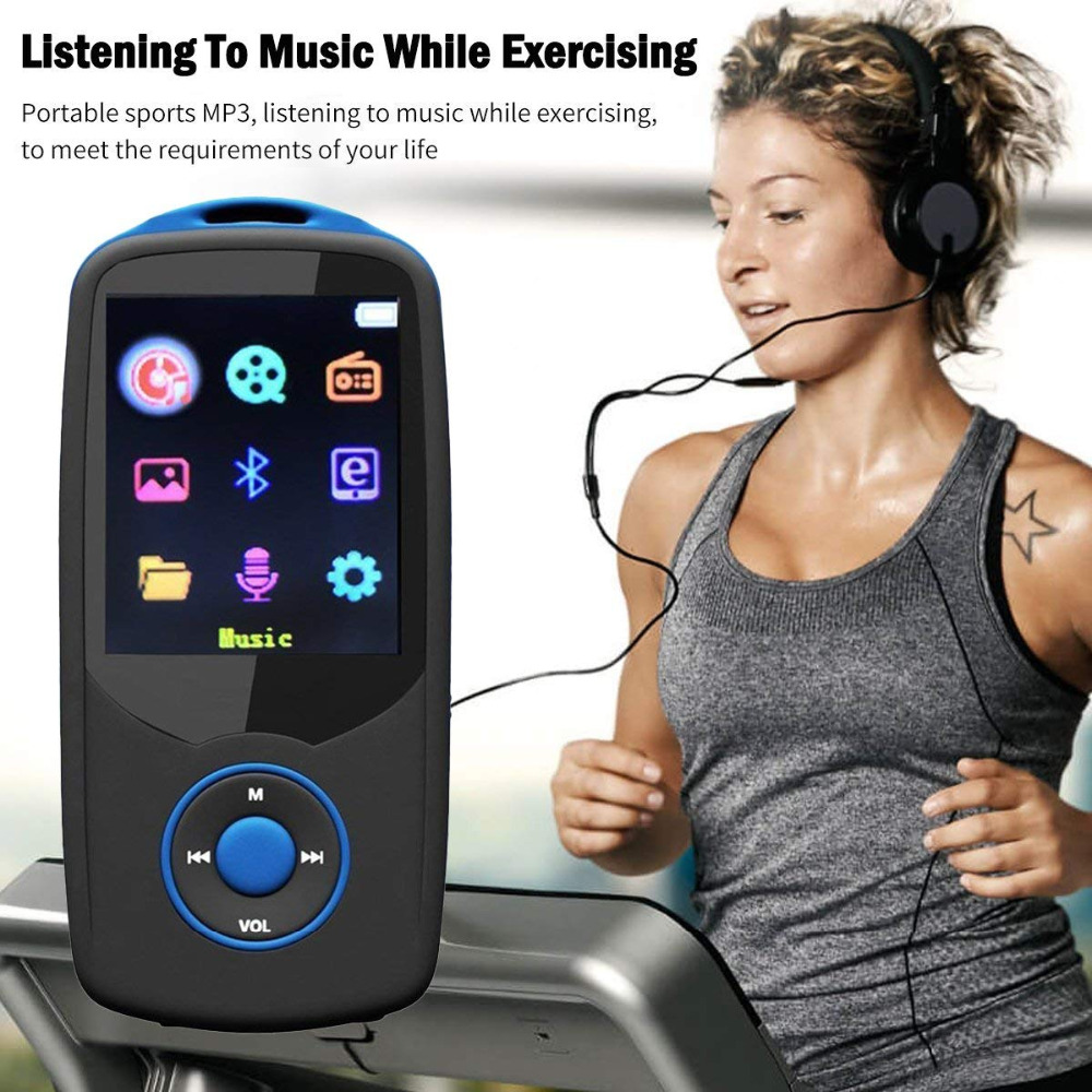 Mini original RUIZU X06 Reproductor de MP3 Bluetooth 8GB Deporte - Audio y video portátil