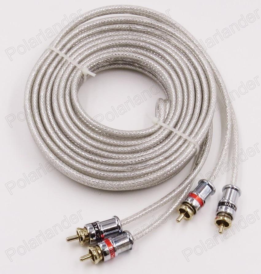 Heißer verkauf weiße Farbe 5 meter CINCH auf auto Stereo Audio Kabel ...