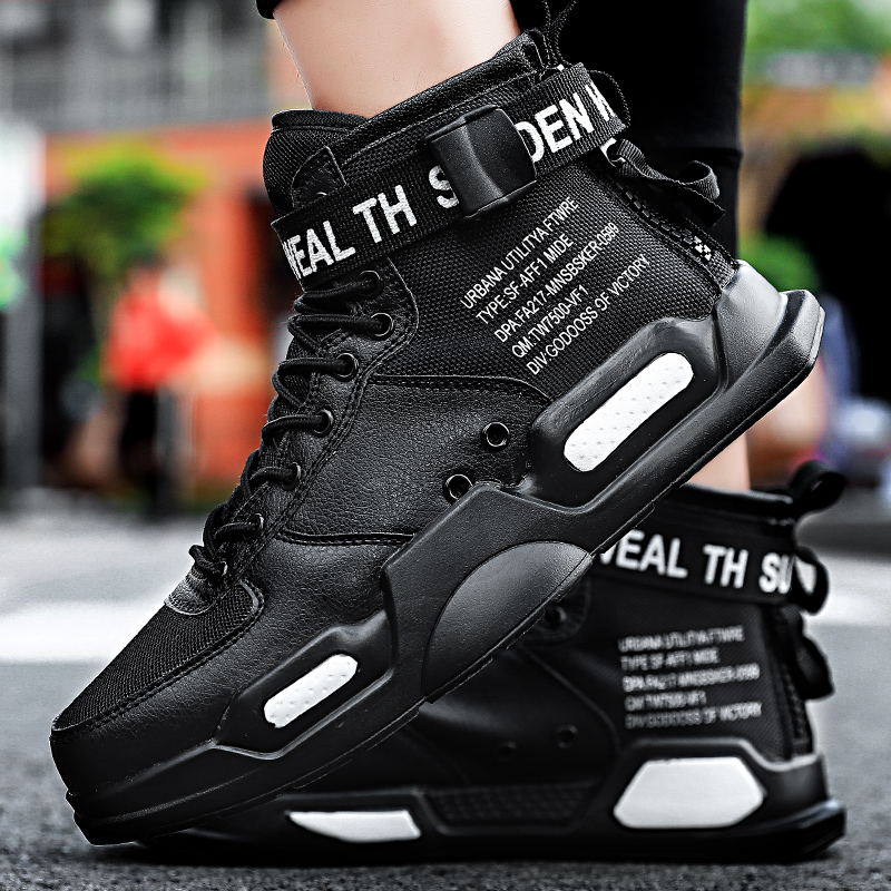 YRRFUOT Fashion High Top Men Shoes Trend  Hot Sale Light Sneakers High Quality Comfortable Casual men Shoes Non slip Flats Shoes-in Men's Casual Shoes from Shoes