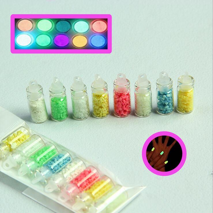 1 Lot = 8 Farben Luminous Leuchtstoff Pulver Sand Glow In Dark 3d Salon Nail Art Maniküre Diy Design Handwerk Decor Zubehör Kiut Clear-Cut-Textur Nails Art & Werkzeuge