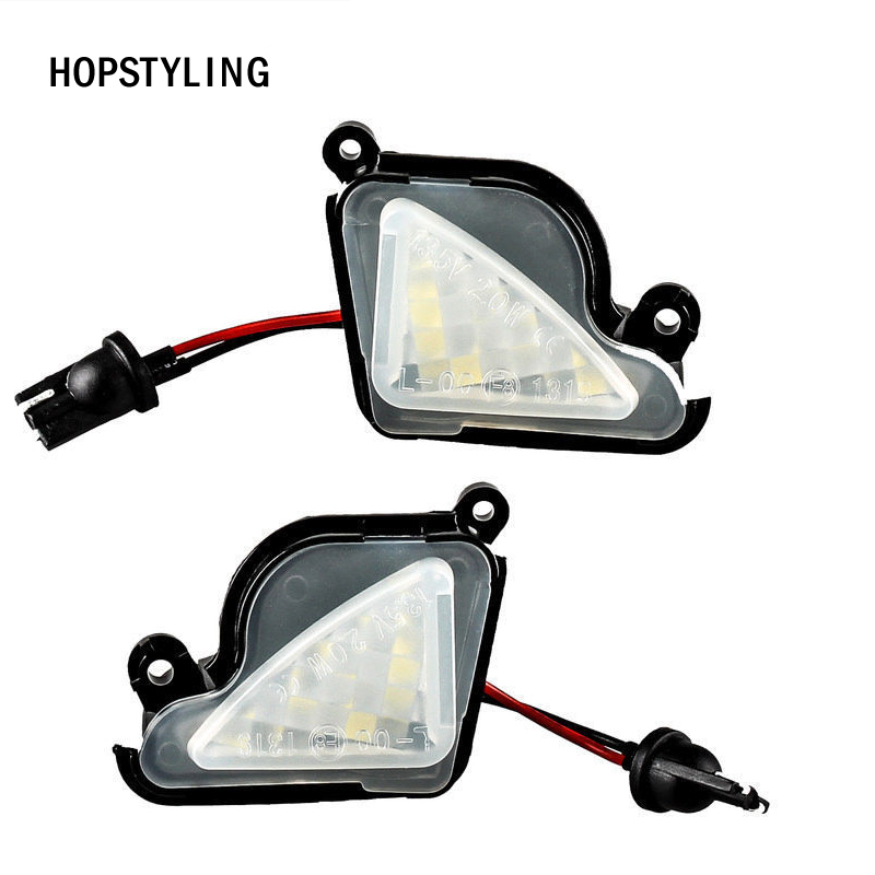 2x Error Free White LED Under Side Mirror Light Puddle Lamp for Skoda Octavia Mk3 5E 2012-2017