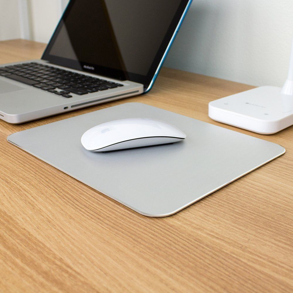 Aluminum Alloy Pad With Non Slip Rubber Bottom Mouse Pad