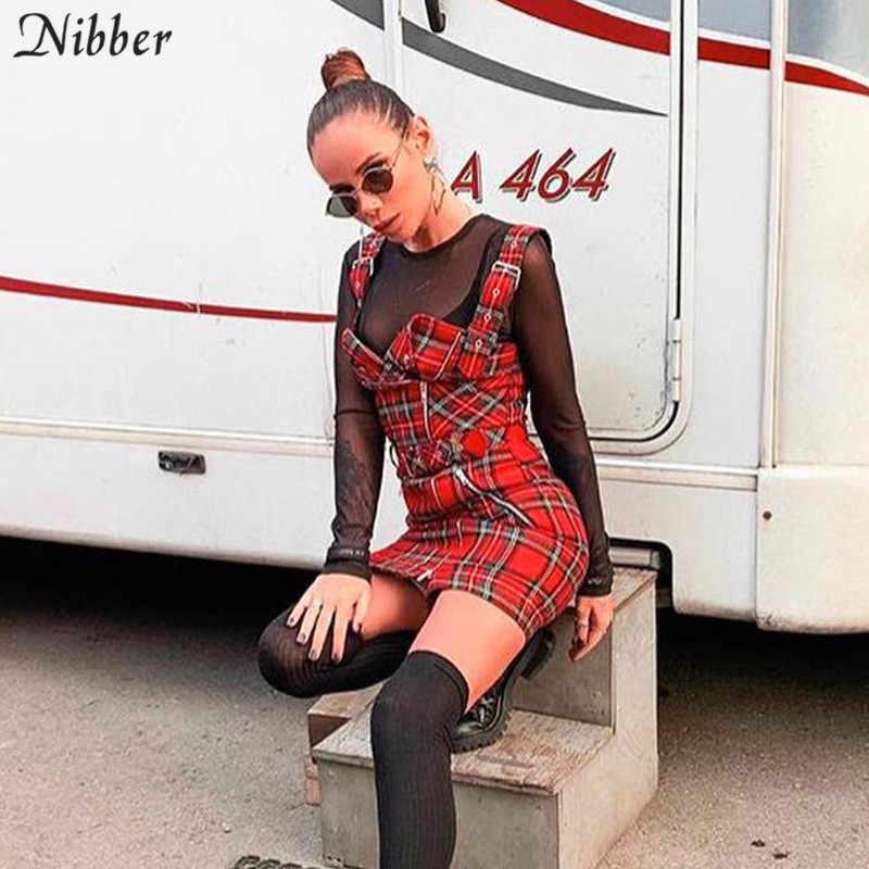 Nibber/женское Повседневное платье в красную клетку с принтом и черным поясом, весеннее модное женское платье без рукавов на бретельках, новинка 2019