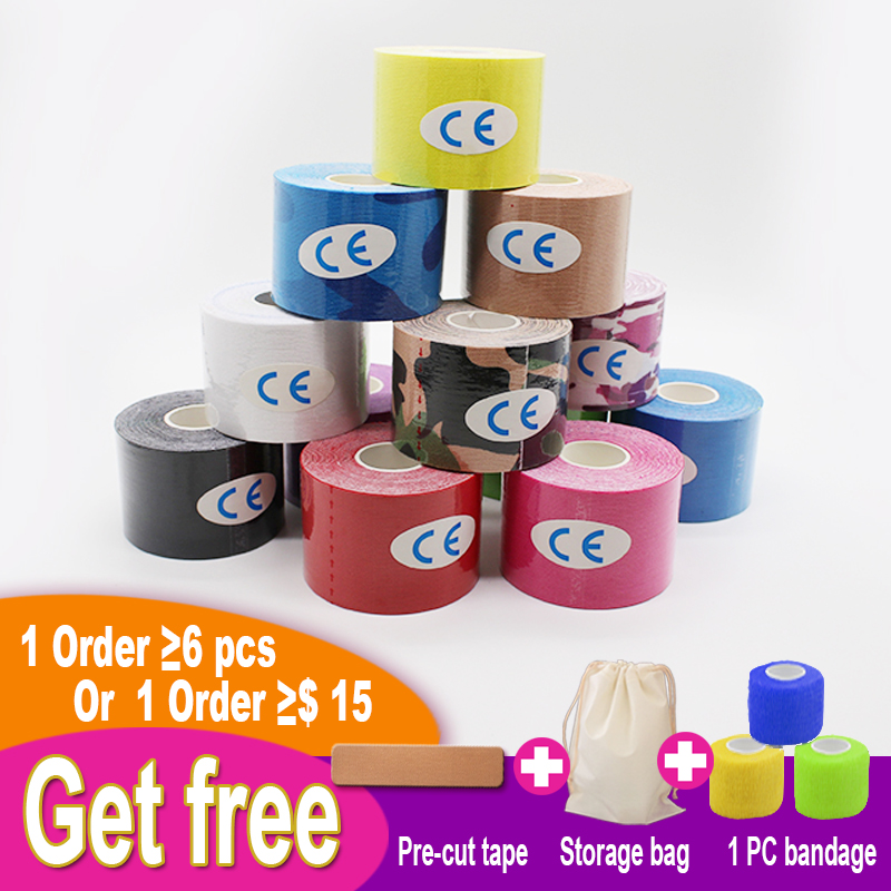 5cm X 5m Kinesiology Tapes Elastic Bandage Cotton Adhesive Fitness Tape Sport Injury Muscle Tape Knee Protector Bandage