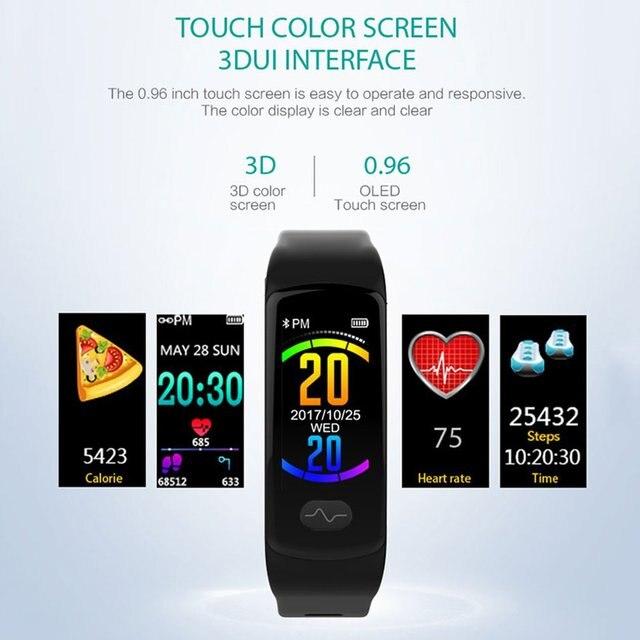 E07 Smart Bracelet Heart Rate Monitor Fitness Tracker Smart Wristband ECG/PPG Bl