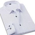 2017 New Polka Dot Mens Shirts Slim fit Long Sleeve Cotton Casual Men Business Formal Shirts camisa masculina
