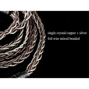 Image 3 - BGVP Cable para auriculares, 2,5/3,5/4,4mm, 6N, 8 núcleos, Frozen OCC +, MMCX trenzado mixto, para SE846 DM6 DMG, HIFI